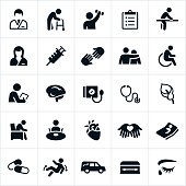Nursing Home and Hospice Care Icons