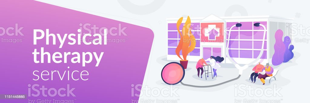 Nursing Home Concept Banner Header Stock Illustration
