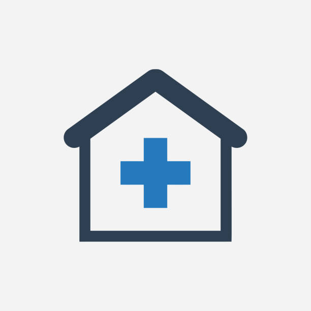nursing home icon - care home stock illustrations