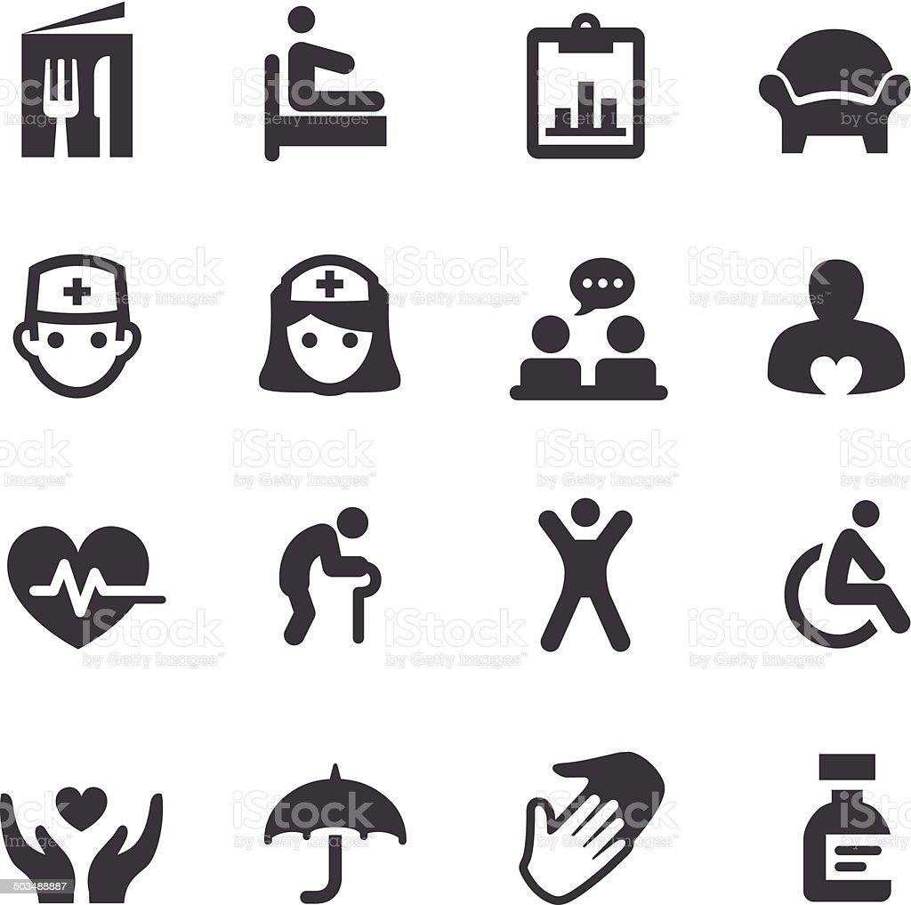 Nursing Home Icons - Acme Series vector art illustration