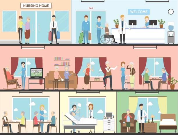 Nursing Home Illustrations Royalty Free Vector Graphics Clip Art Istock