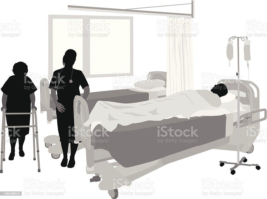Nursing Seniors royalty-free stock vector art