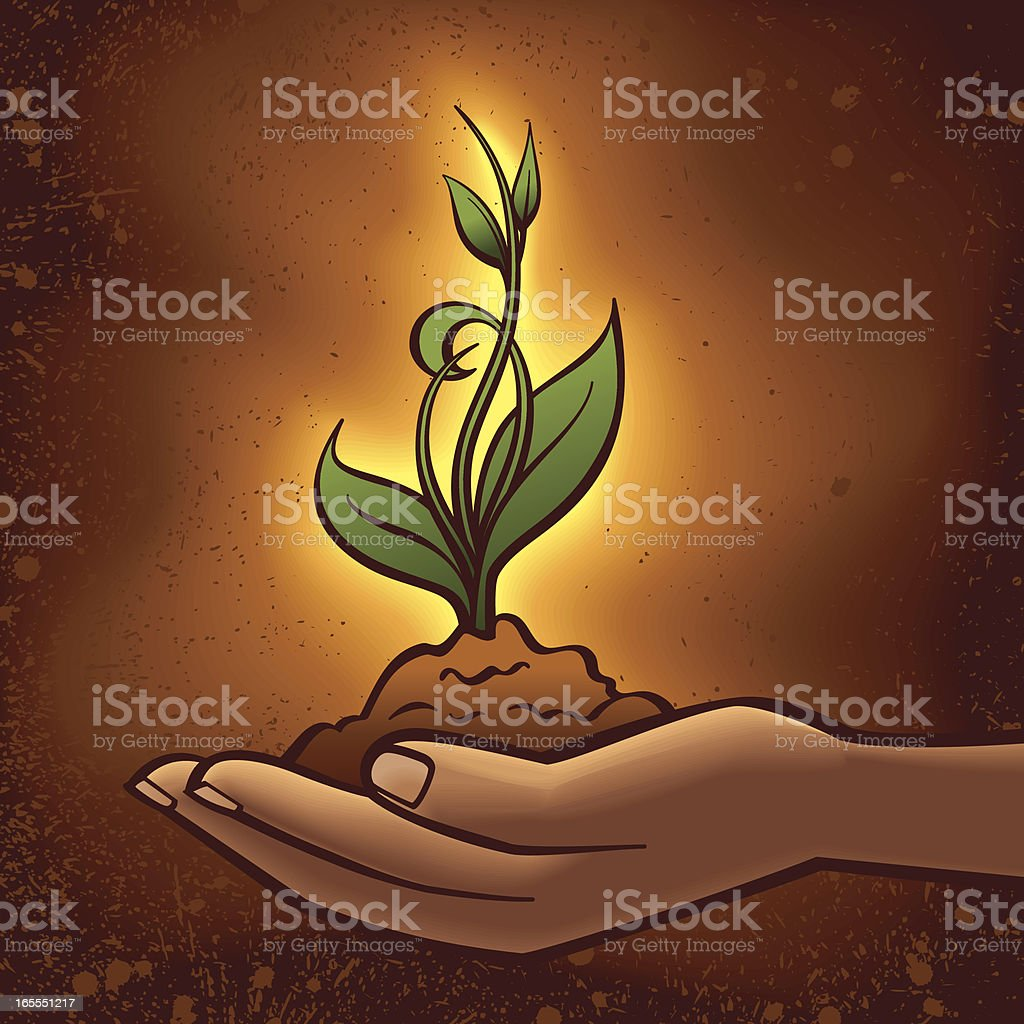 Nurturing Growth royalty-free stock vector art