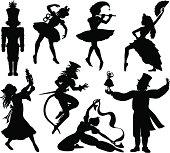 Nutcracker Ballet Silhouettes