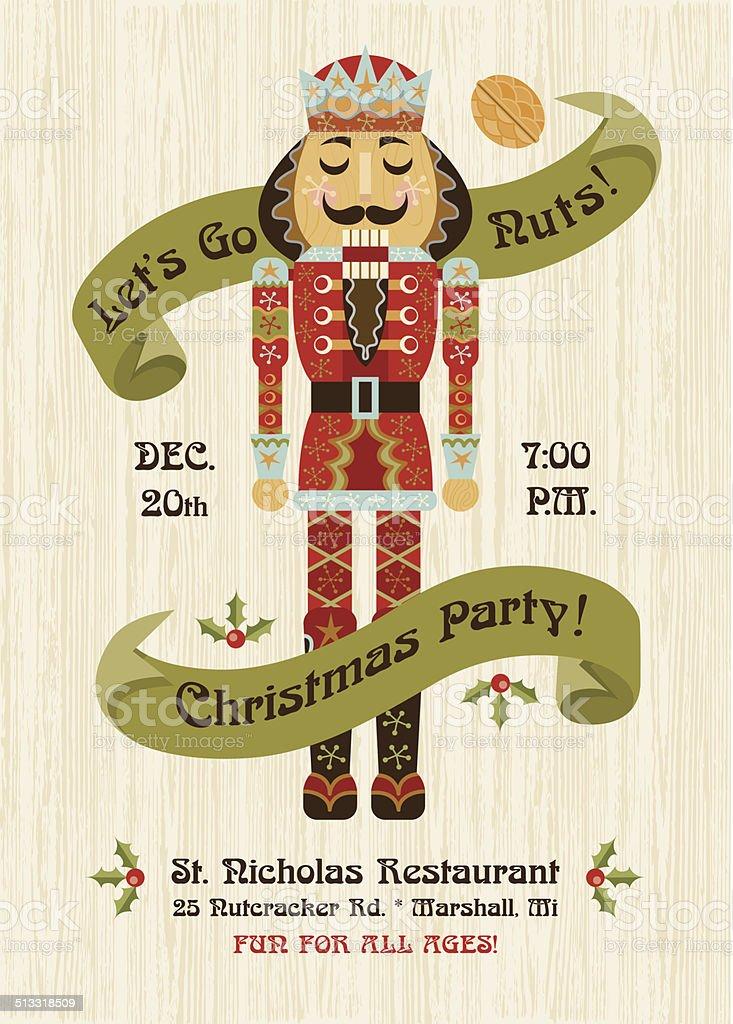 Nutcracker Invitation vector art illustration
