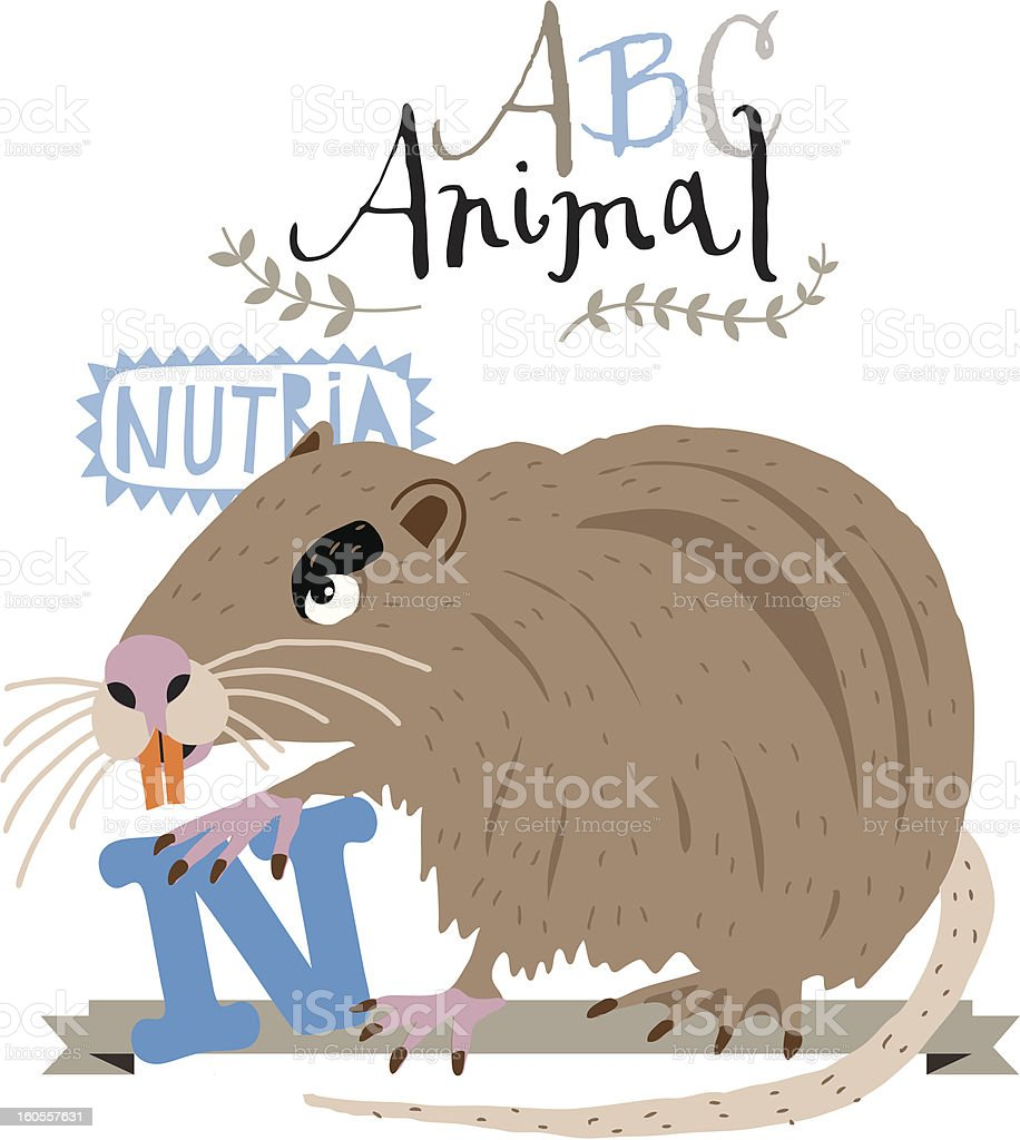 ABC nutria royalty-free stock vector art