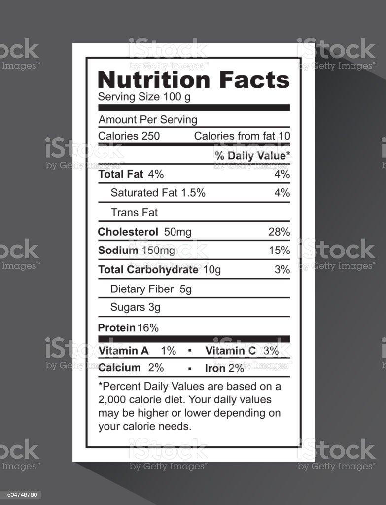 nutrition fact design vector art illustration
