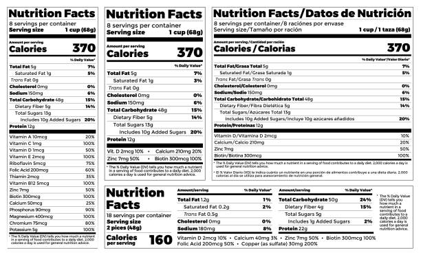 Royalty free nutrition label clip art vector images for Nutrition facts label template download