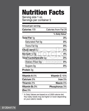 istock Nutrition Facts Label 512044174