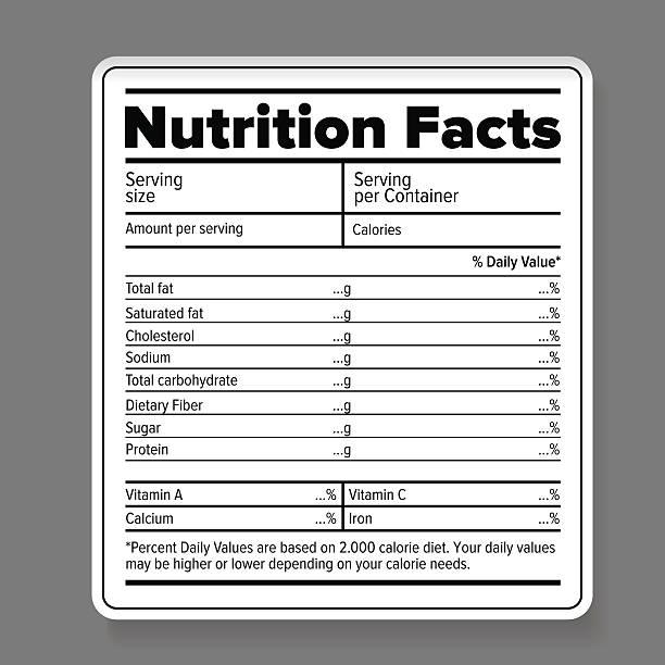영양 정보 - 재료 stock illustrations