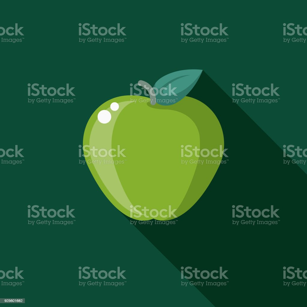 Nutrition Flat Design Naturopathy Icon with Side Shadow vector art illustration