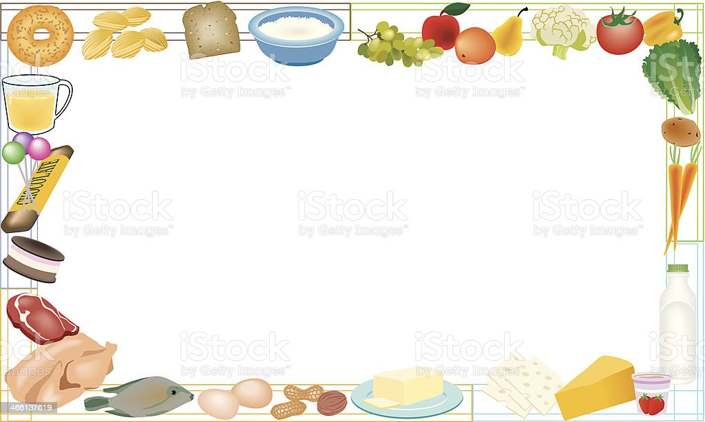 nutrition frame c stock vector art amp more images of bread