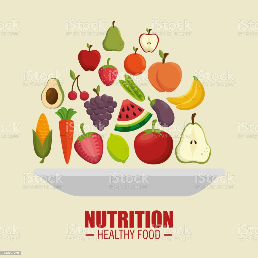Nutrition Healthy Food Symbol Stock Vector Art More Images Of