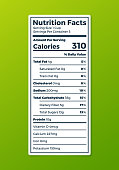 Nutrition label with space for your copy.