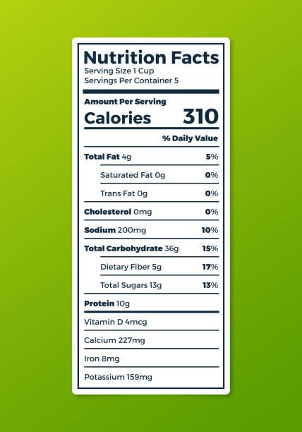 nutrition label - portion stock-grafiken, -clipart, -cartoons und -symbole