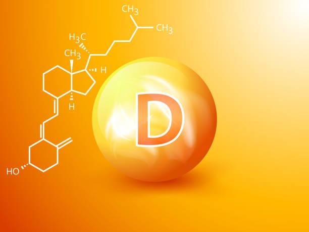 beslenme işareti vektör kavramı. d vitamini nin gücü. - vitamin d stock illustrations