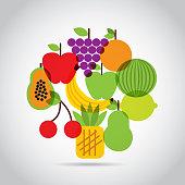 nutritional food design, vector illustration eps10 graphic