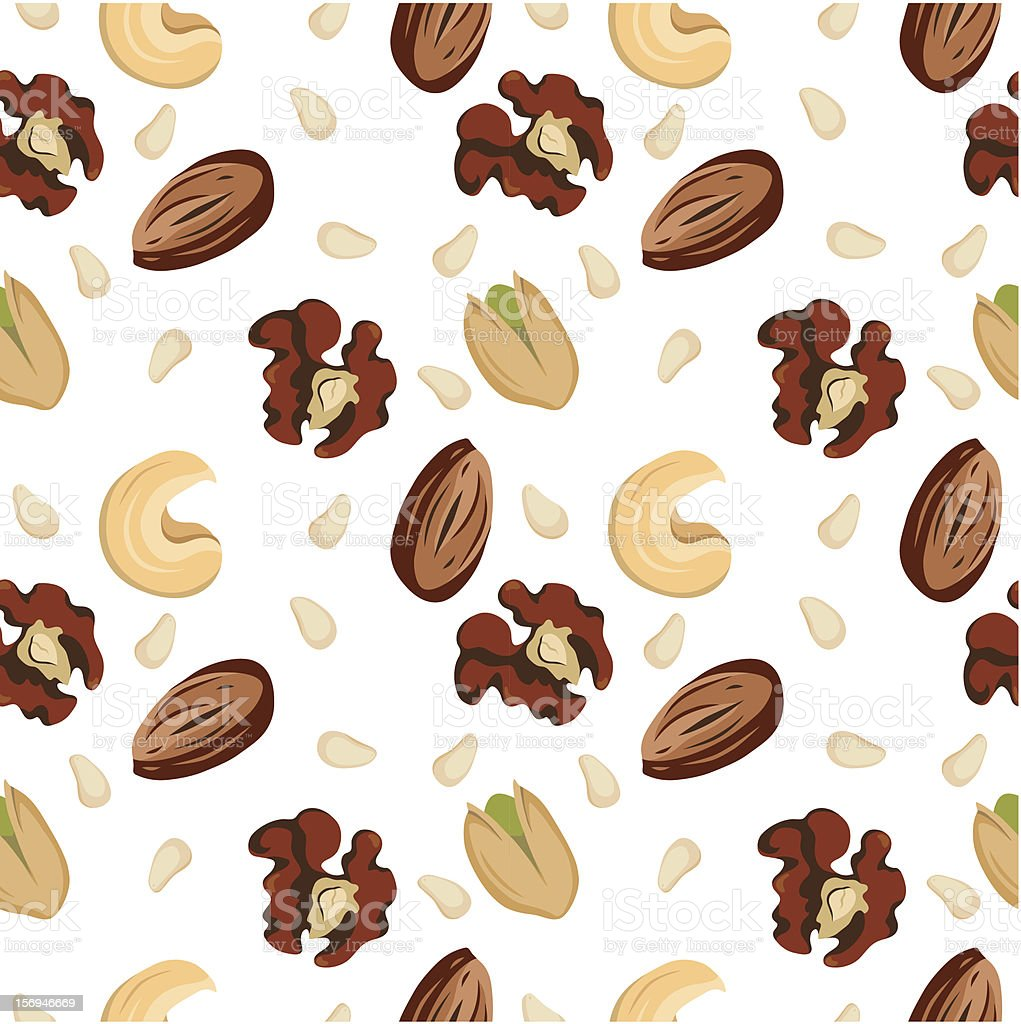 Nuts pattern royalty-free nuts pattern stock vector art & more images of almond