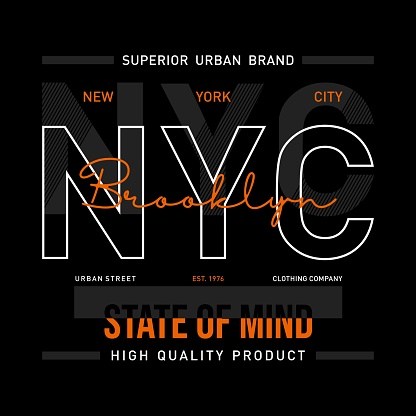 nyc graphic design typography for t shirt print.