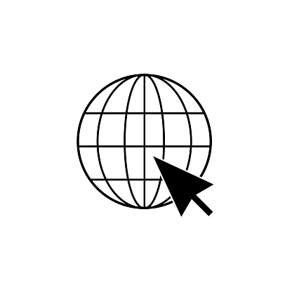 o to web Icon. Web icon vector. Web icon page symbol for your web design. Internet world on a white background