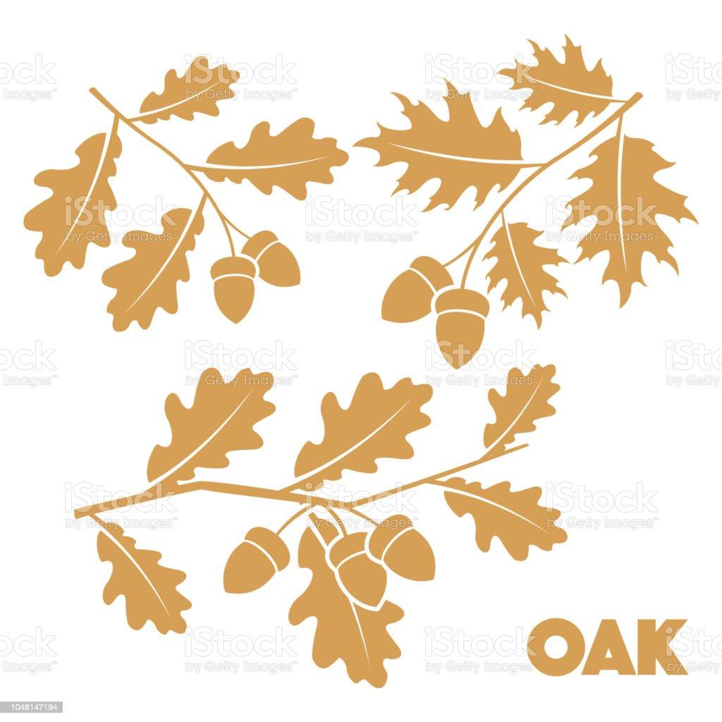 Oak branch set