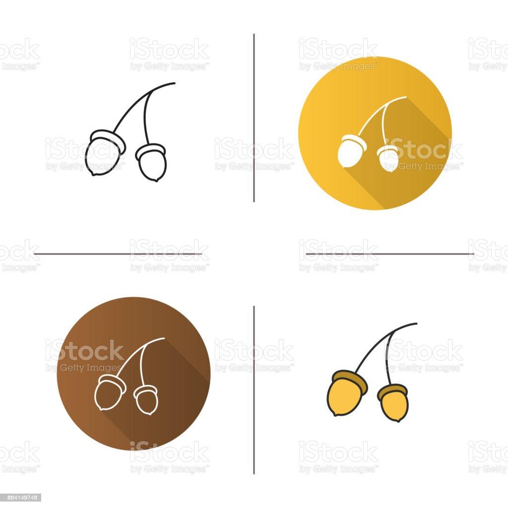 Oak fruit branch icon royalty-free oak fruit branch icon stock vector art & more images of acorn