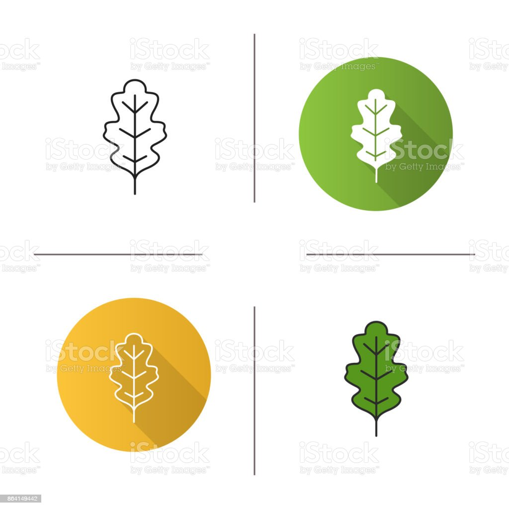 Oak leaf icon royalty-free oak leaf icon stock vector art & more images of botany