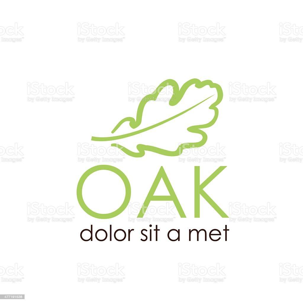 oak leaf vector design template vector art illustration