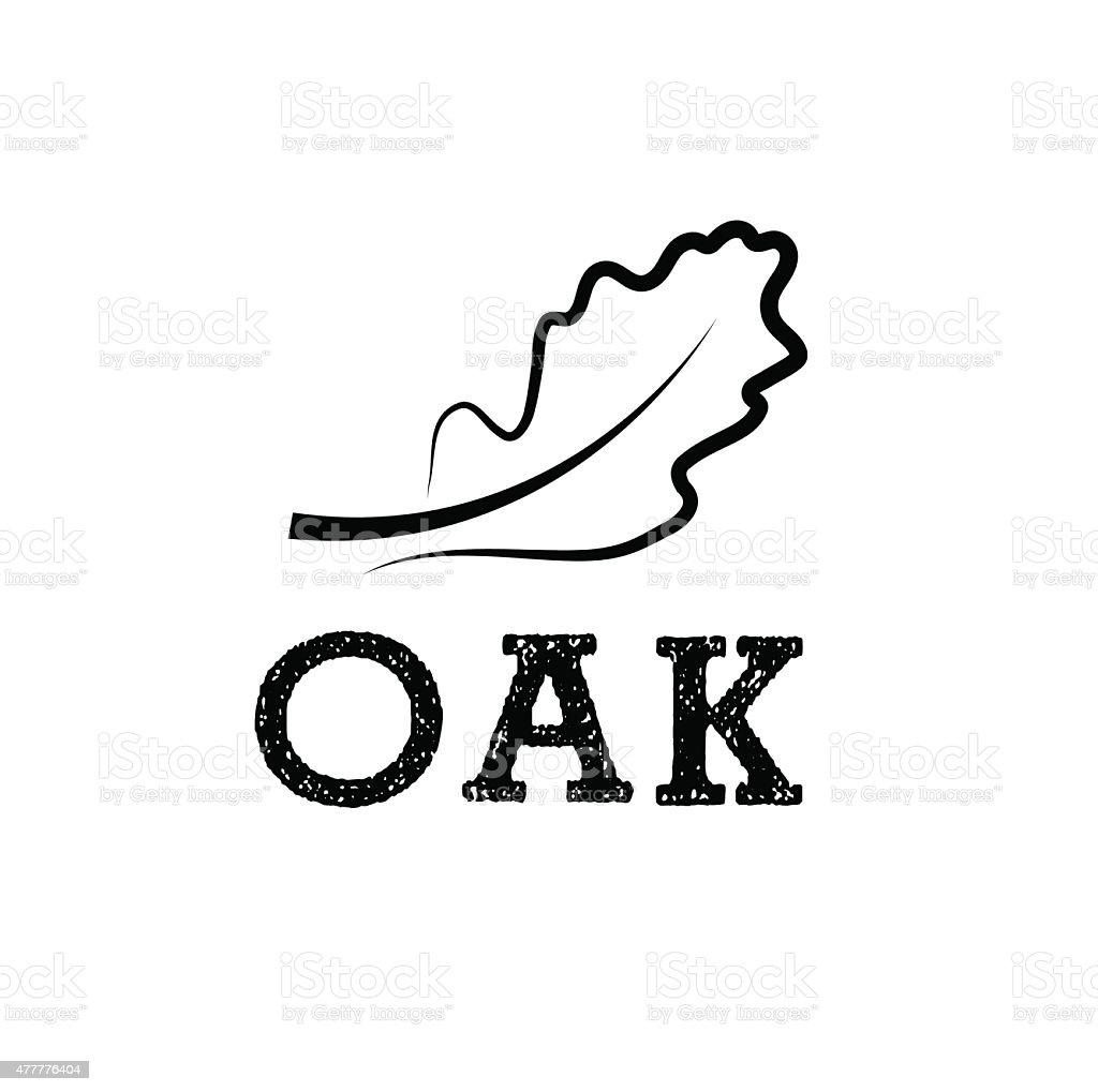 oak leaf vector design template stock vector art 477776404 istock