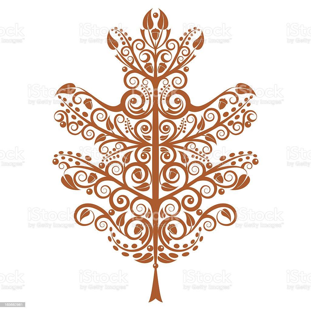 Oak Leaf royalty-free stock vector art