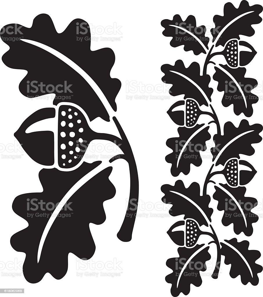 Royalty Free Oak Leaf Clip Art, Vector Images ...