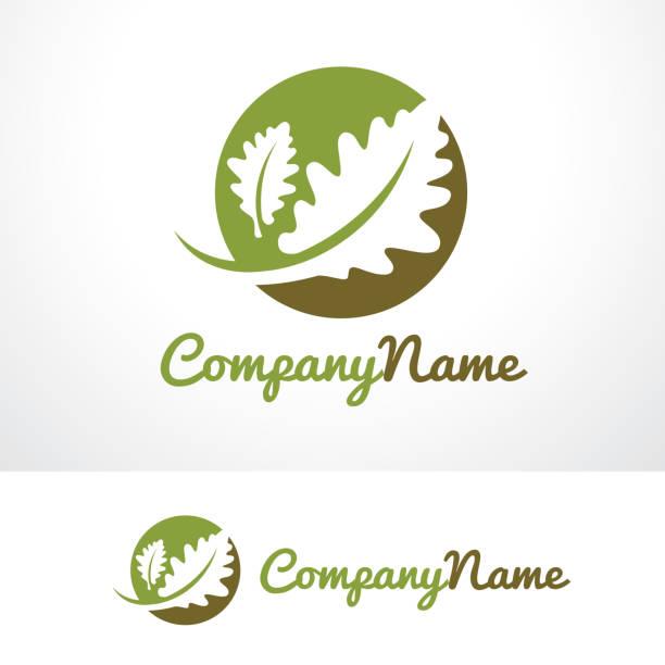 Oak Life Symbol Template Design Vector, Emblem, Design Concept, Creative Symbol, Icon This design suitable for symbol, emblem or icon.  oak leaf stock illustrations