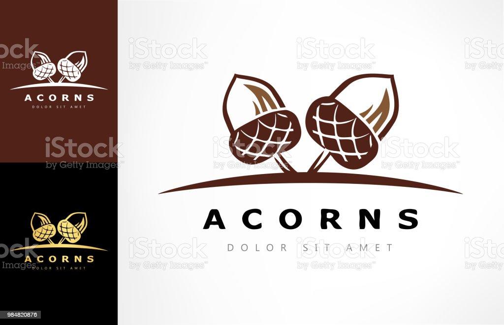 Ilustración de Logotipo De La Encina Vector De La Bellota y más ...