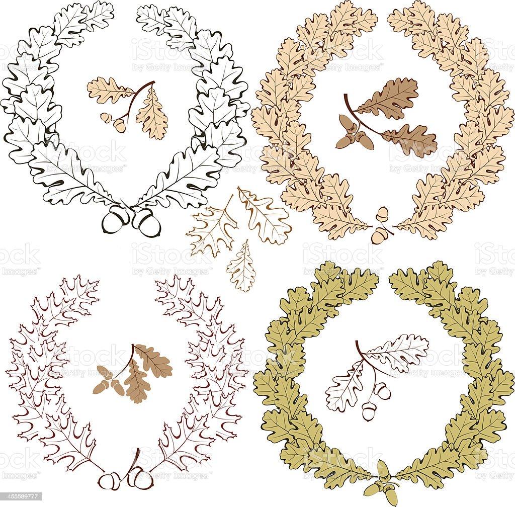 Oak wreath (Corona Civica) royalty-free stock vector art