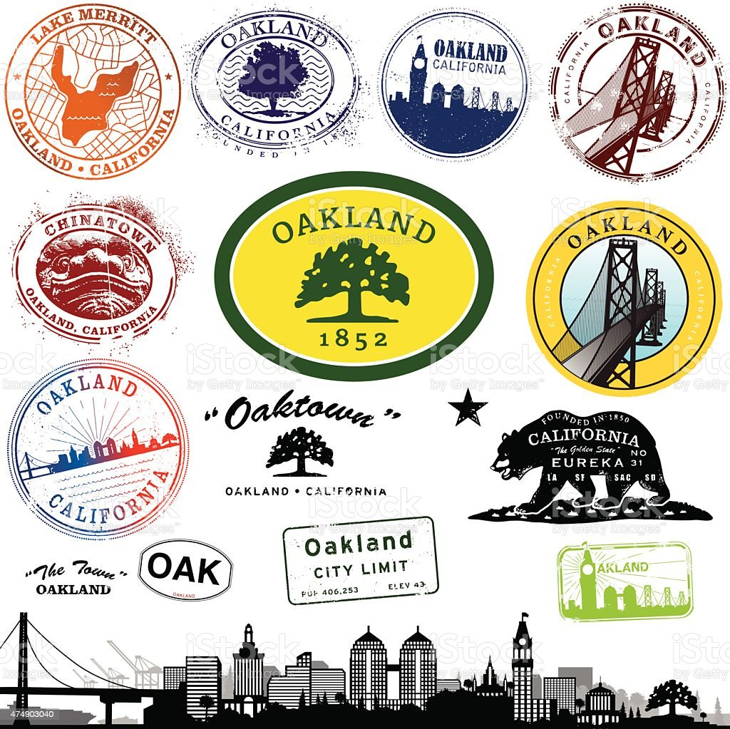 Download Oakland California Stamp Graphics Stock Illustration ...