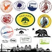 Oakland California Stamp Graphics