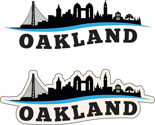 Oakland Cityscape Graphic Oakland Cityscape Graphic oakland stock illustrations