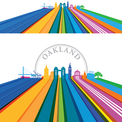 Oakland Lined Cityscape