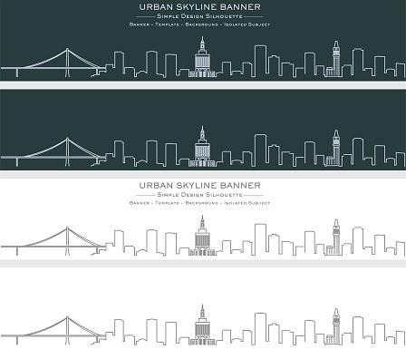 Oakland Single Line Skyline Profile Banner