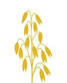Oat logo. Isolated oat on white background