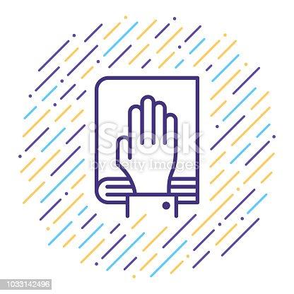 istock Oath Line Icon 1033142496