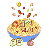 Oatmeal with dehydrated fruits