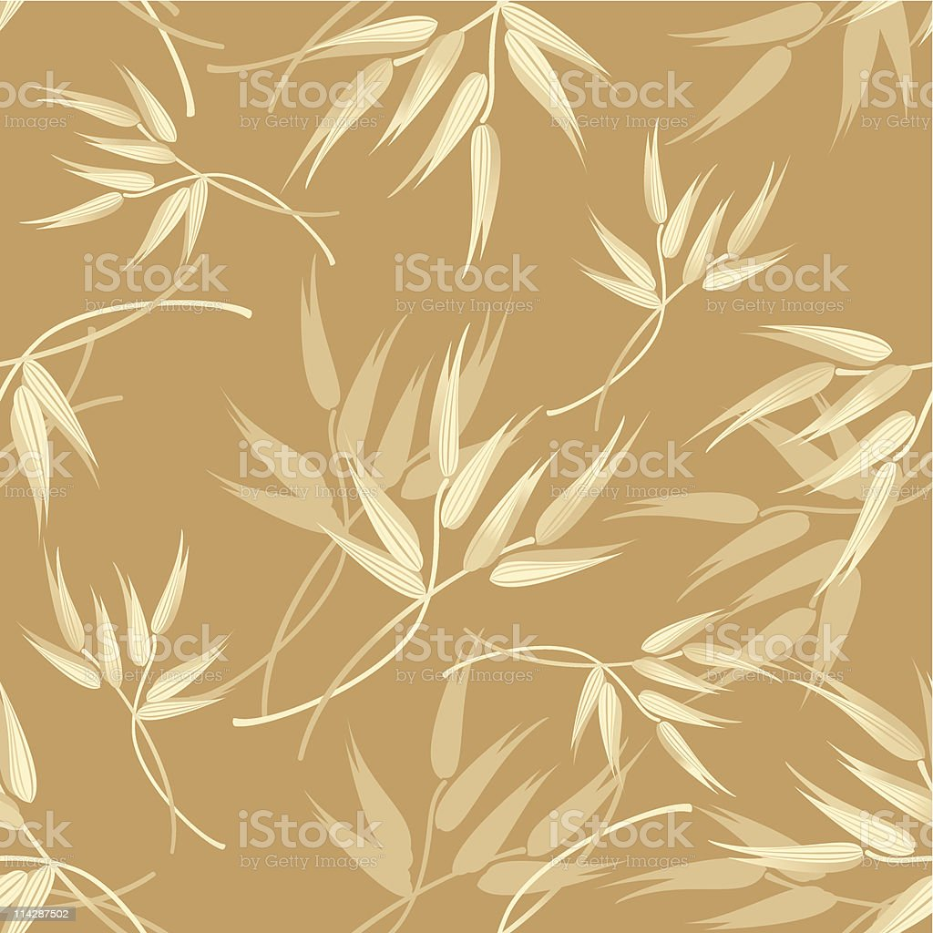 Oats Pattern vector art illustration