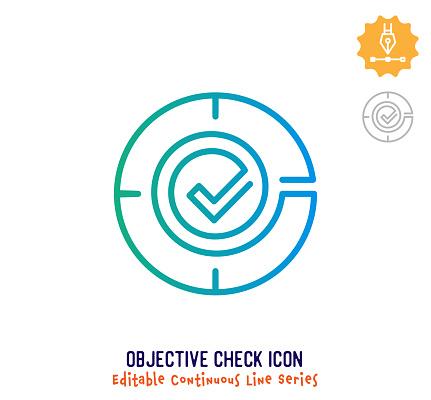 Objective Check Continuous Line Editable Stroke Line