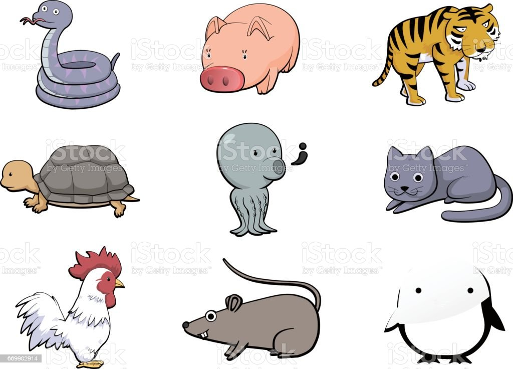 Objects and animals icons