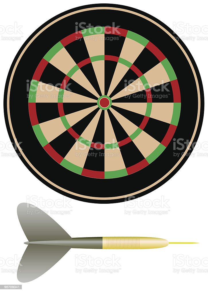 Objects for darts royalty-free stock vector art
