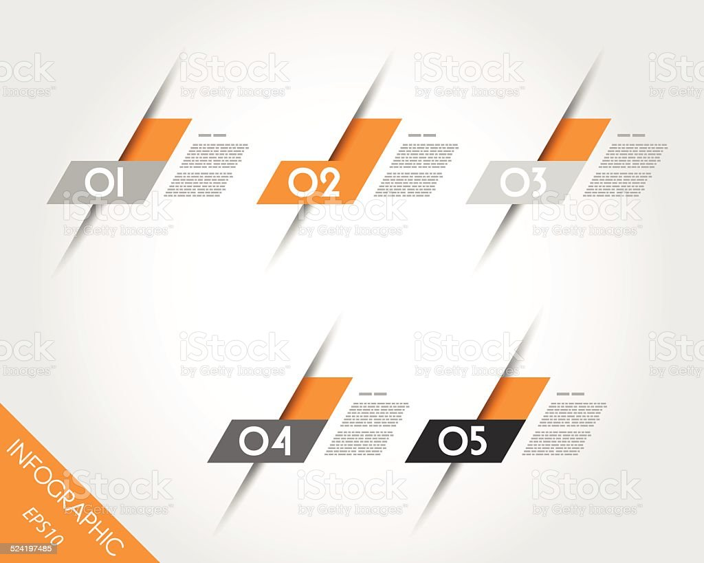 orange oblique L stickers vector art illustration