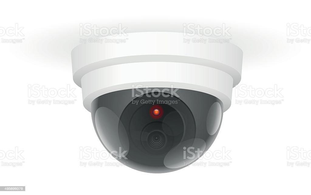 Observation Camera Ceiling White vector art illustration