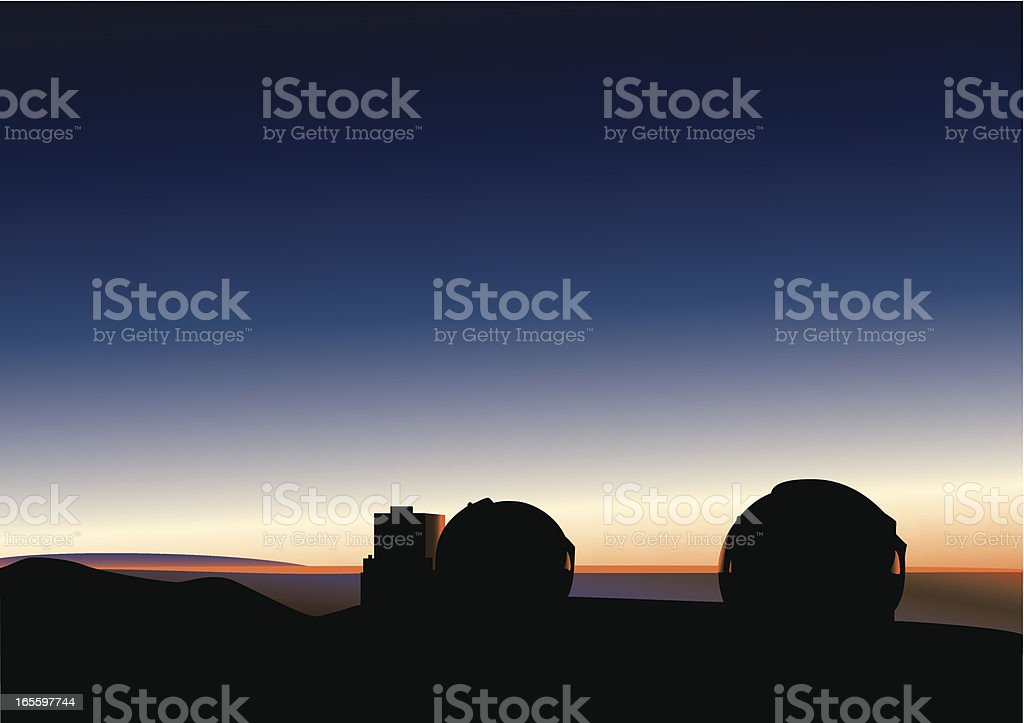 Observatories in Hawaii royalty-free observatories in hawaii stock vector art & more images of astronomy