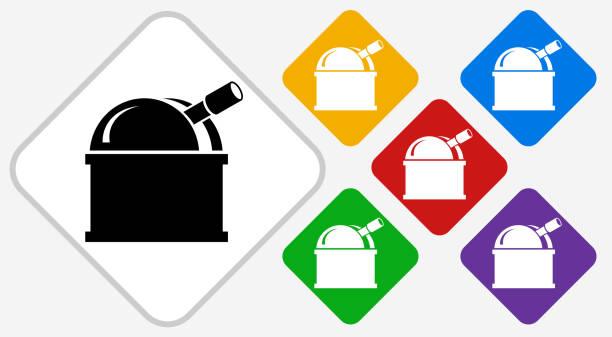 sternwarte farbe diamant vektor icon - sternwarte stock-grafiken, -clipart, -cartoons und -symbole